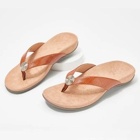 Fashion Summer White Leather Sandals