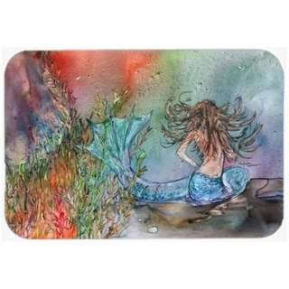 Carolines Treasures 8972CMT Brunette Mermaid Water Fantasy Kitchen or Bath Mat 20 x 30 in.