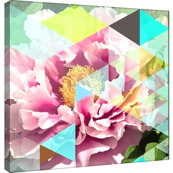 """PTM Images 9-101213 PTM Canvas Collection 12"""" x 12"""" - """"Crystalized Peonies"""" Giclee Peonies Art Print on Canvas"""