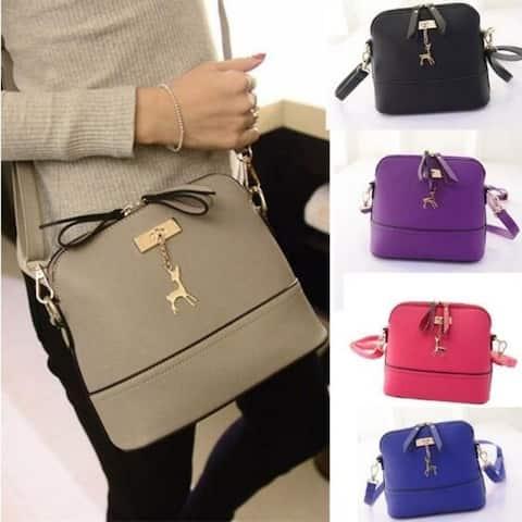 New Women Messenger Bags Vintage Small Shell Leather Handbag Casual Bag