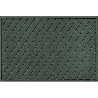 20377590035 Water Guard Argyle Mat in Evergreen - 3 ft. x 5 ft.