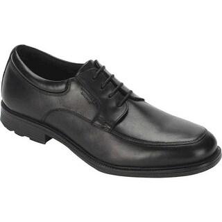 Rockport Men's Essential Details Waterproof Apron Toe Black Leather