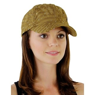 Glitzy Game Sequin Trim Baseball Cap for Ladies