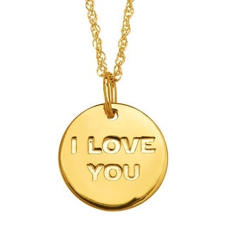 Star Wars 'I Love You; I Know' Reversible Disc Pendant in 10K Gold - Yellow
