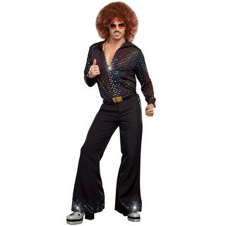 Dreamgirl Disco Dude Adult Costume - Black  sc 1 st  Overstock.com & Dreamgirl Costumes | Find Great Menu0027s Clothing Deals Shopping at ...