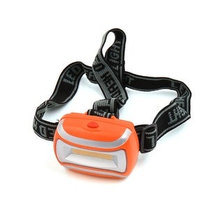 Unique BargainsOrange Plastic Shell 3 Modes COB Headlight Lamp w Headband for Outdoor Camping