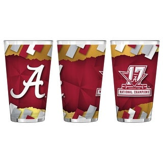 Alabama Crimson Tide 2017-18 National Champs Sublimated Pint Glass