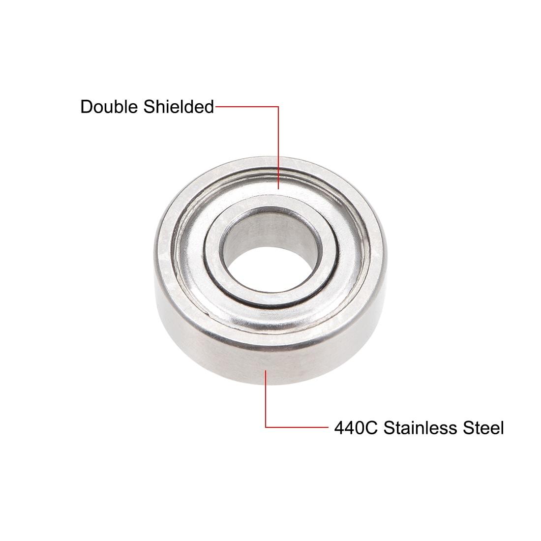 "SR4ZZ Premium ABEC-5 1//4/""x 5//8/""x 0.196/"" SR4Z Stainless inch Steel Ball Bearings"