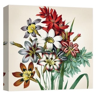 "PTM Images 9-124602  PTM Canvas Collection 12"" x 12"" - ""Flower Bouquet I"" Giclee Flowers Art Print on Canvas"