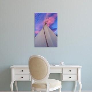Easy Art Prints Chuck Haney's 'Tipi At Sunset' Premium Canvas Art
