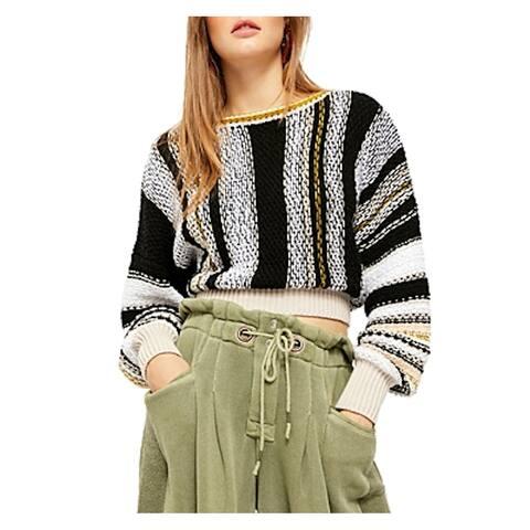 FREE PEOPLE Black Long Sleeve Sweater L