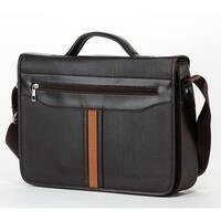 MKF Collection Arthur Messenger Laptop Crossbody Men Bag by Mia K. Farrow