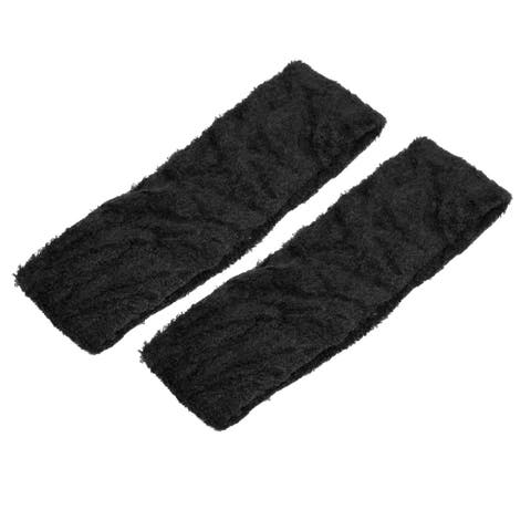 Unique Bargains Lady Sports Spa Elastic Head Wear Hair Band Black Headband 2 Pcs