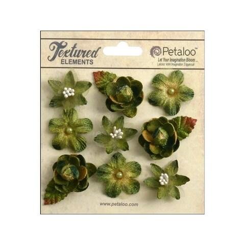 Petaloo Textured Elements Mini Blossoms Moss Green