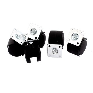 Unique Bargains Office Chair 40mm Dia Wheel Square Top Plate Mounted Swivel Caster 5 Pcs