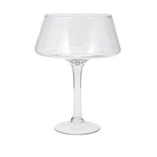 """15.25"""" Large Henriette Clear Transparent Decorative Glass Table Top Pedestal Bowl"""