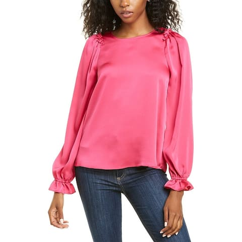 Cece By Cynthia Steffe Satin Texture Top
