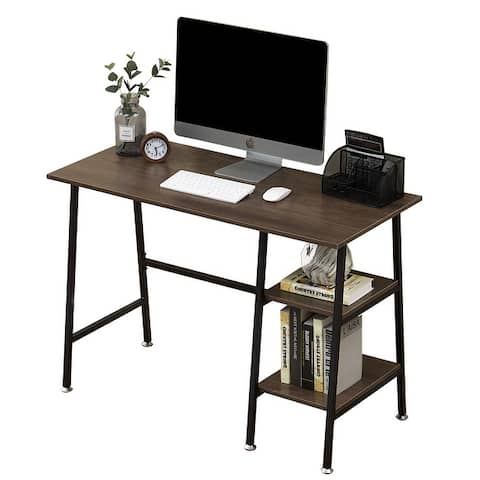 Computer Storage Desk with Removeable 2 Tier Shelves for Office (5 Color Opotions)