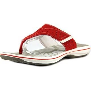 Clarks Brinkley Derry Open Toe Synthetic Flip Flop Sandal