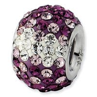 Sterling Silver Reflections Purple Graduated Crystal Bead