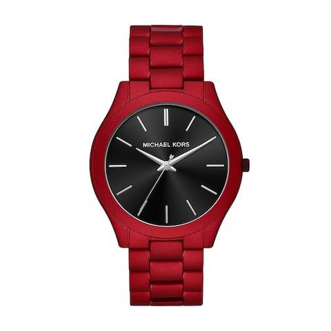 Michael Kors Men's Slim Red Stainless Steel Watch