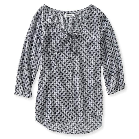 Aeropostale Womens Abstract Houndstooth Tunic Blouse