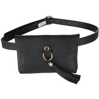 CTM® Flap Front Tassel Waist Pack Belt Bag - one size