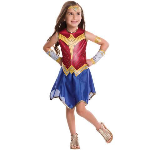 Rubies JL Wonder Woman Child Costume - Red/Blue