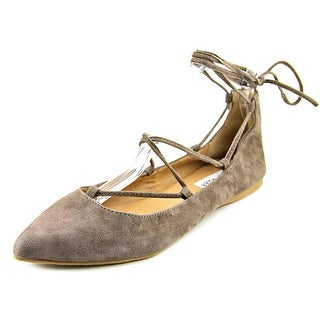 Steve Madden Eleanorr Women  Pointed Toe Suede Gray Flats