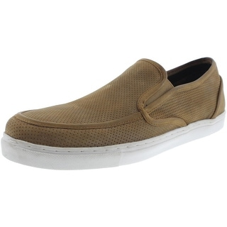 Crevo Mens Aerox Leather Perforated Loafers