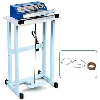 "Gymax 12"" Foot Pedal Impulse Sealer Heat Seal Plastic Bag Sealing Machine w/ Cutter - as pics"