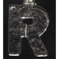 "4"" Antique-Style Speckled Glass Monogram Letter ""R"" Christmas Ornament"