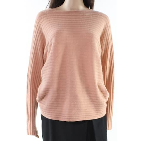 Vince Peach Orange Womens Size Medium M Ribbed Knitted Sweater
