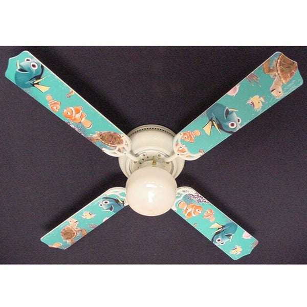 Disney's Nemo and Friends Print Blades 42in Ceiling Fan Light Kit - Multi