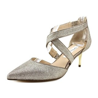 Nina Tessie Women Pointed Toe Synthetic Gold Heels