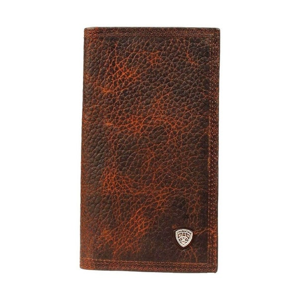 Ariat Western Wallet Mens Rodeo Checkbook Work Shield Concho - One size