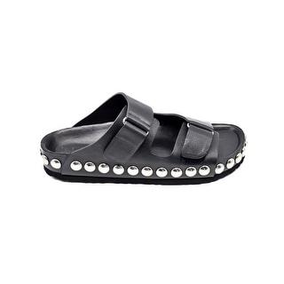 Giambattista Valli Studded Leather Black Sandals Size 39 / 9