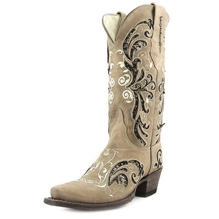 Ferrini Laser Glimmer Women Pointed Toe Leather Brown Western Boot
