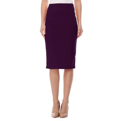 Women's Casual Solid Midi Skirt