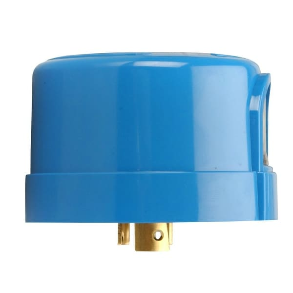 Woods 59412 Heavy-Duty Outdoor Twist-To-Lock Photocontrol, Blue, 110-277V