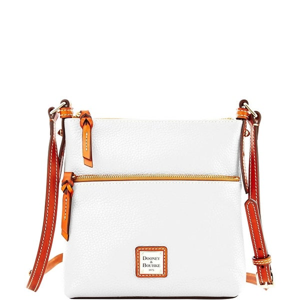 Dooney & Bourke Pebble Grain Letter Carrier (Introduced by Dooney & Bourke at $168 in Aug 2014) - White