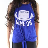 Sweet Claire Blue Womens Size Large L Game On Football Tank Top