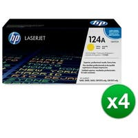 HP 124A Yellow Original LaserJet Toner Cartridge (Q6002A)(4-Pack)