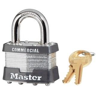 "Master Lock 1KA 2727 Laminated Steel Padlock, Silver, 1-3/4"" W"