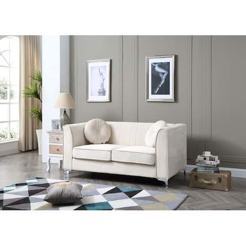Delray Velvet Tufted Loveseat