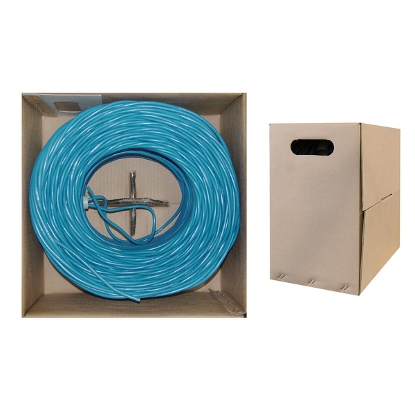 Offex Bulk Cat6 Blue Ethernet Cable, Stranded, UTP (Unshielded Twisted Pair), Pullbox, 1000 foot