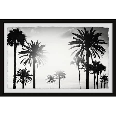 'Group of Palm Trees' Framed Painting Print