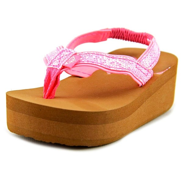 Roxy TW Glitz Toddler Open Toe Synthetic Pink Thong Sandal