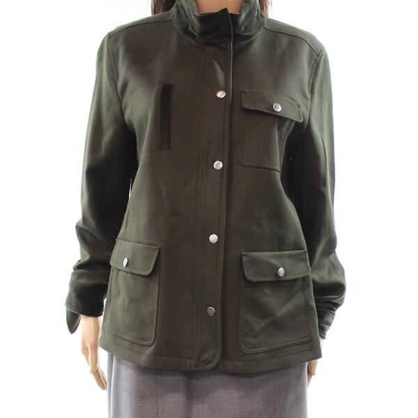 Nordstrom Olive Sarma Women's Medium Full-Zip Jacket