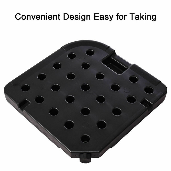 4 Plate Patio Offset Umbrella Base Stand Weights Sand//Water Filled Base